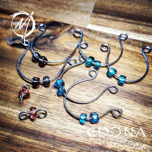 Beaded looped earrings handmade custom jewellery and gifts epona creations by monika made in australia