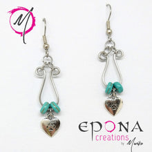 Load image into Gallery viewer, Paw Prints on my Heart Drop Earrings handmade custom jewellery and gifts epona creations by monika made in australia