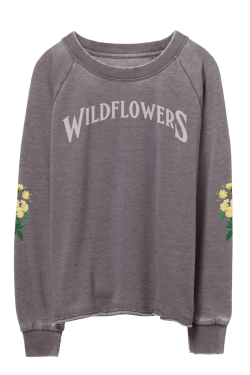 Wildflowers Worn Pullover