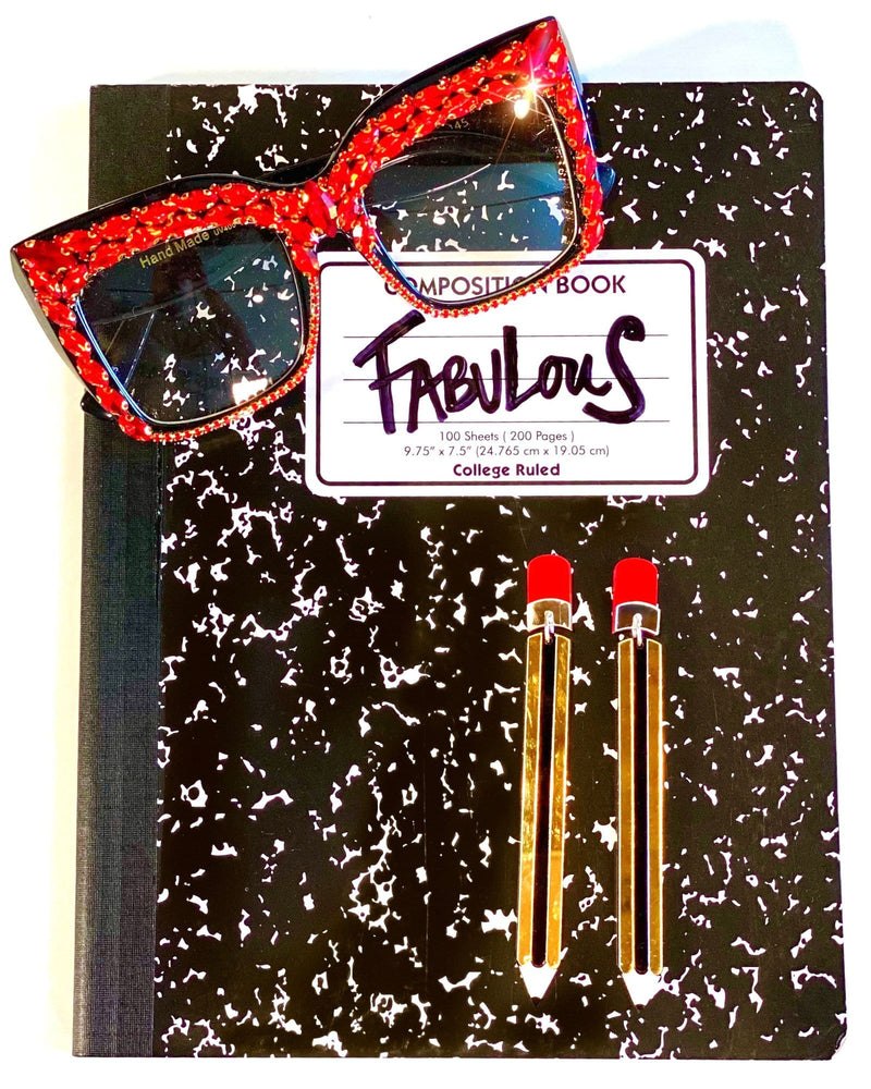 Hot 4 Teacher Bling Sunglasses - Red - Meghan Fabulous