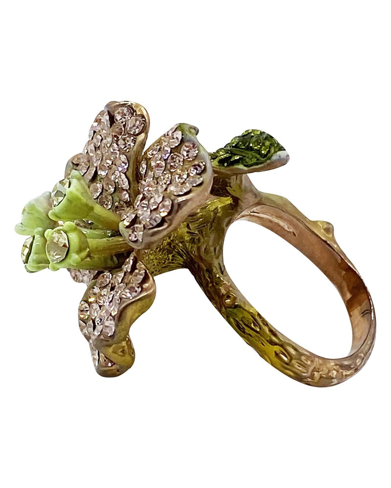 Wood Nymph Flower Cocktail Ring - Meghan Fabulous