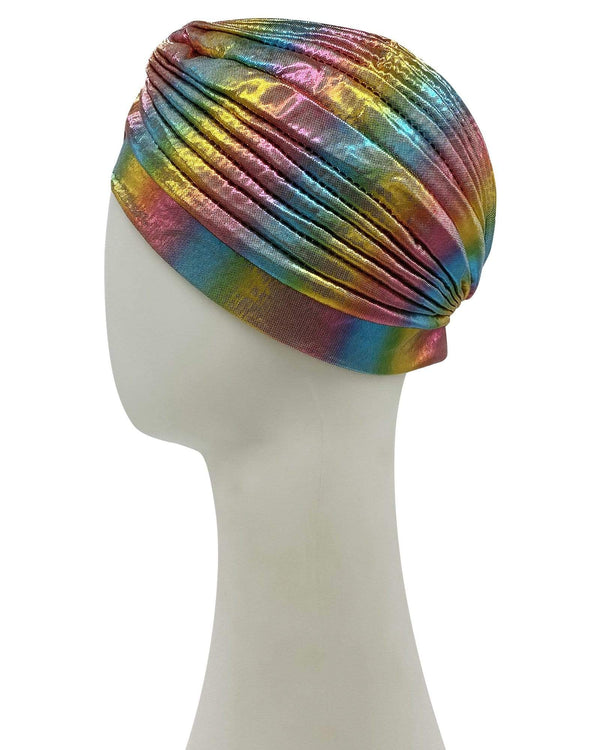 Psychic Friends Rainbow Metallic Turban