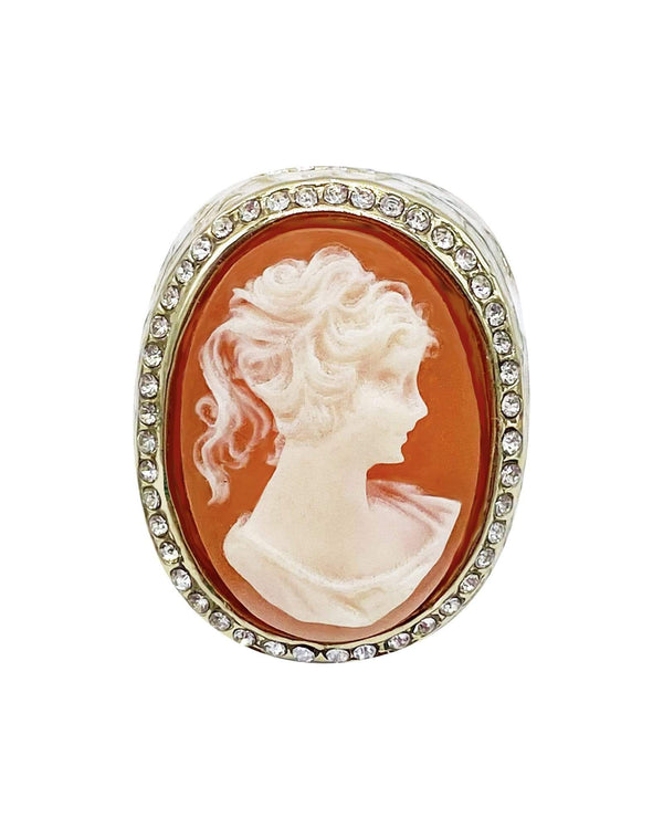 Heirloom Cameo Ring - Peach/ White