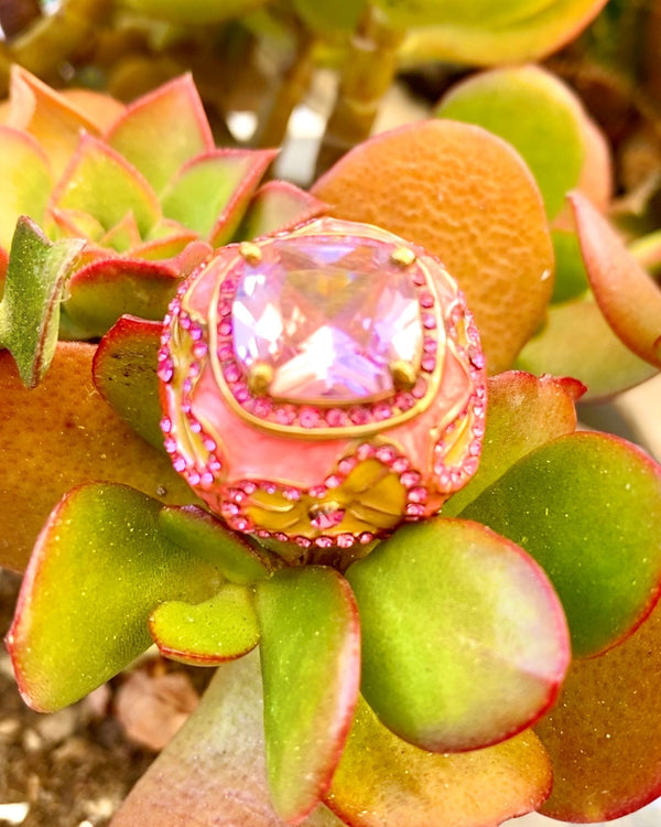 Aurora Cocktail Ring - Pink - Meghan Fabulous