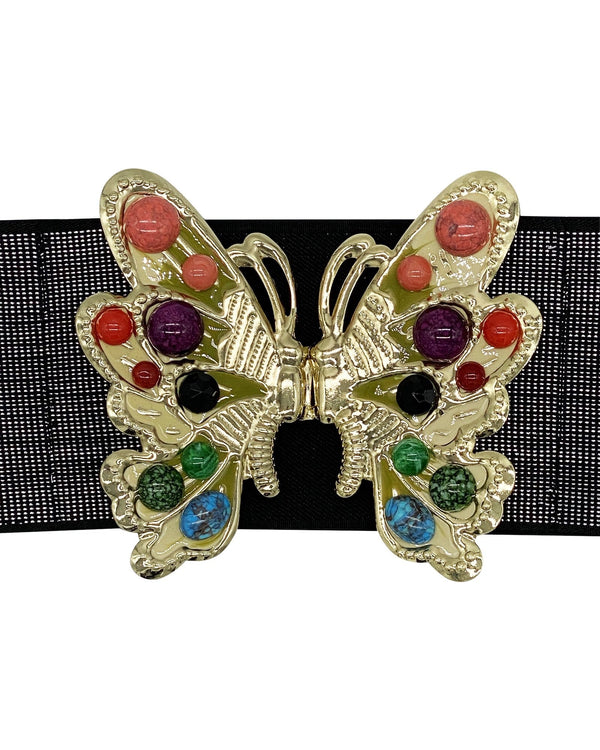 Beaded Butterfly Belt - Black Sparkle - Meghan Fabulous