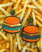 Cheeseburger in Paradise Earrings - Meghan Fabulous