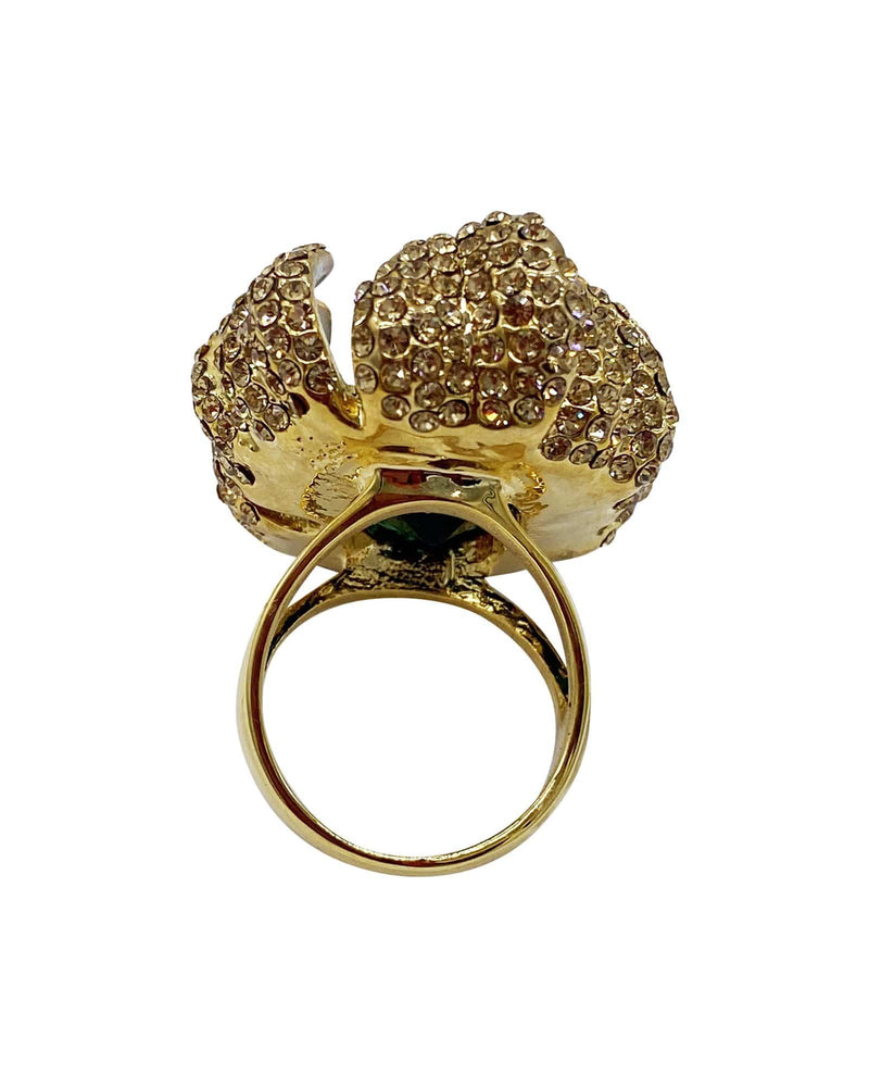 Marigold Flower Cocktail Ring- Rose Gold