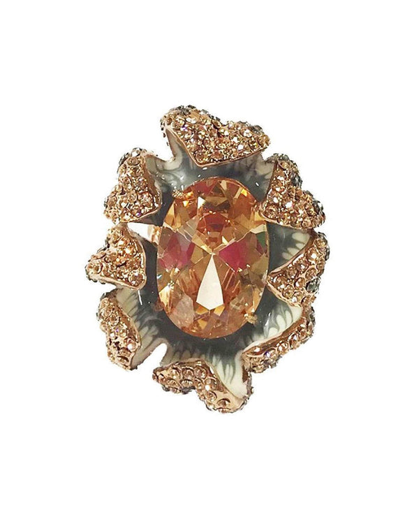 Marigold Flower Cocktail Ring - Rose Gold - Meghan Fabulous