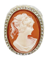 #Heirloom Cameo Ring - Peach - Meghan Fabulous
