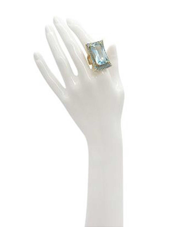 Twinkle Mist Cocktail Ring - Ice Blue - Meghan Fabulous