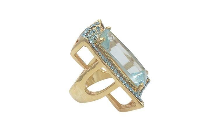 Twinkle Mist Cocktail Ring - Ice Blue