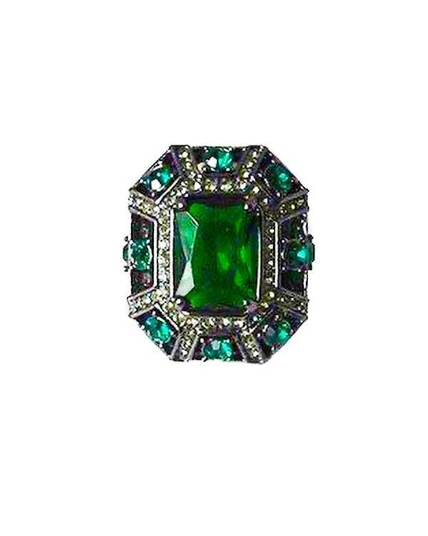 La Vida Heirloom Ring - Emerald - Meghan Fabulous