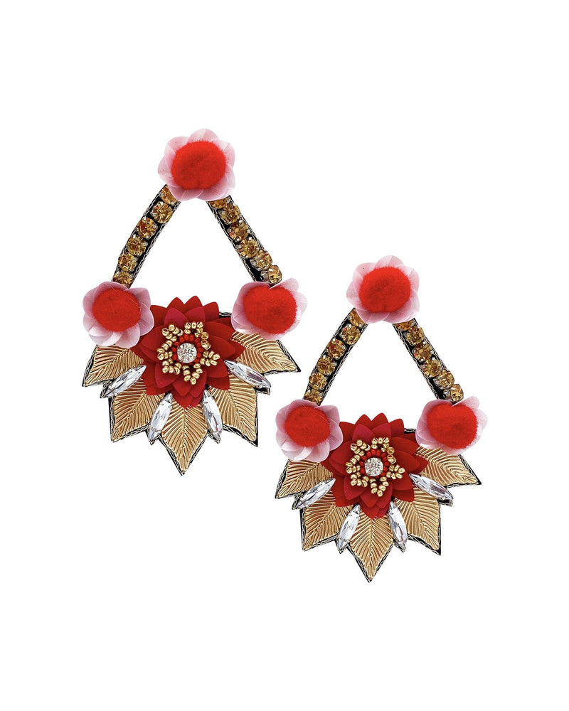 Lord Shiva Pom Earrings - Meghan Fabulous