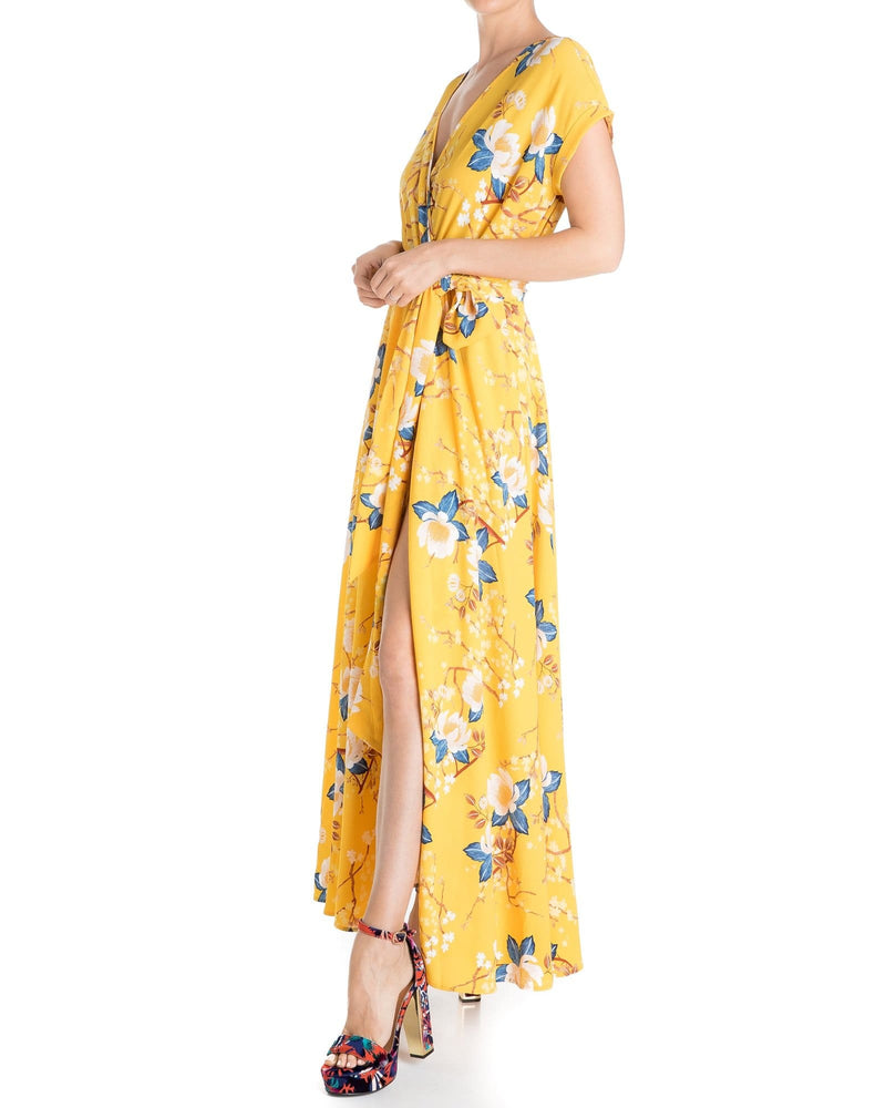 Jasmine Maxi Dress - Gold Lotus