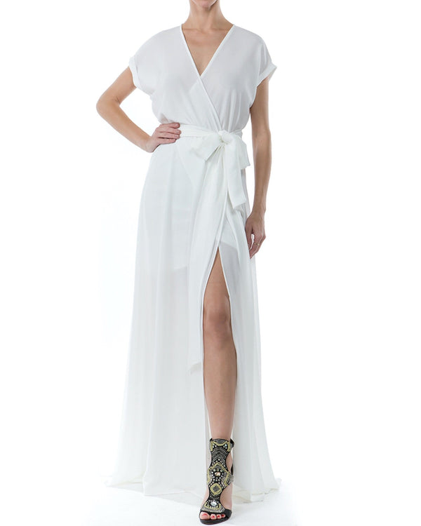 Jasmine Maxi Dress - Ivory - Meghan Fabulous