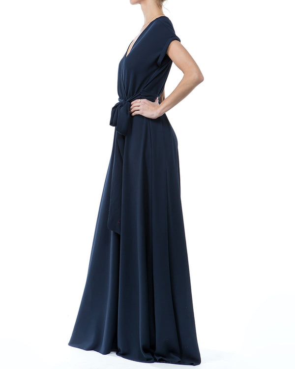 Jasmine Maxi Dress - Navy - Meghan Fabulous