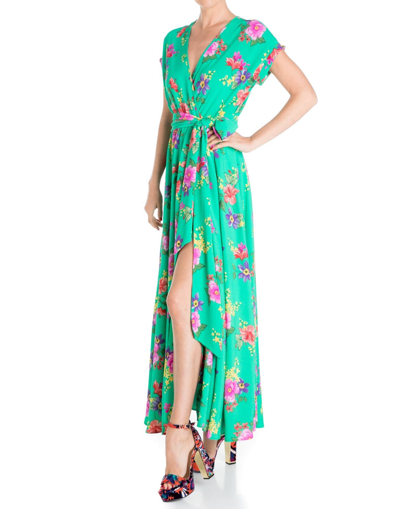 Jasmine Maxi Dress - Pink/Turquoise
