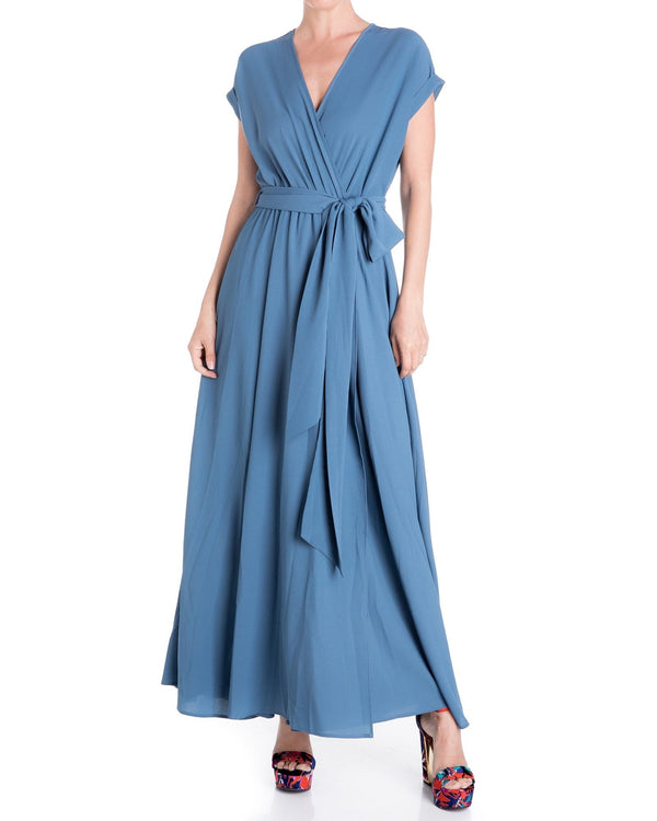 Jasmine Maxi Dress - Steel Blue