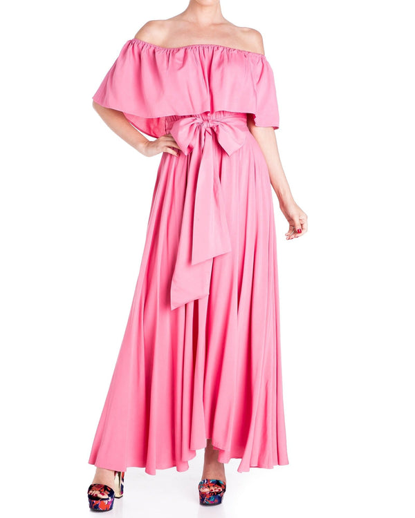 Morning Glory Maxi Dress - Bubble Gum Pink