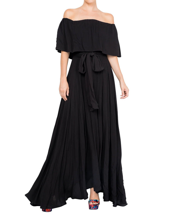 Morning Glory Maxi Dress - Black - Meghan Fabulous