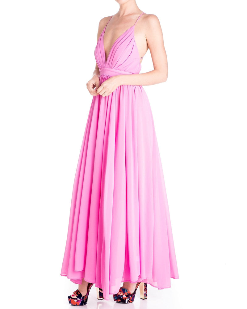 Enchanted Garden Maxi Dress - Bubble Gum Pink