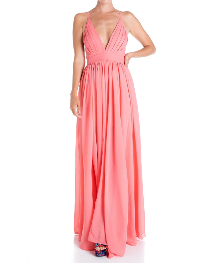 Enchanted Garden Maxi Dress - Buff