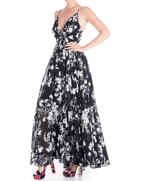 Enchanted Garden Maxi Dress - Dahlia Black