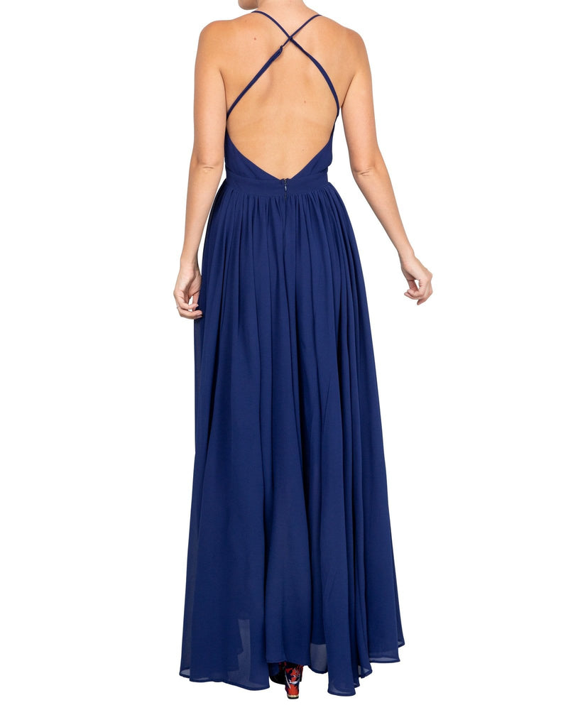 Enchanted Garden Maxi Dress - Navy