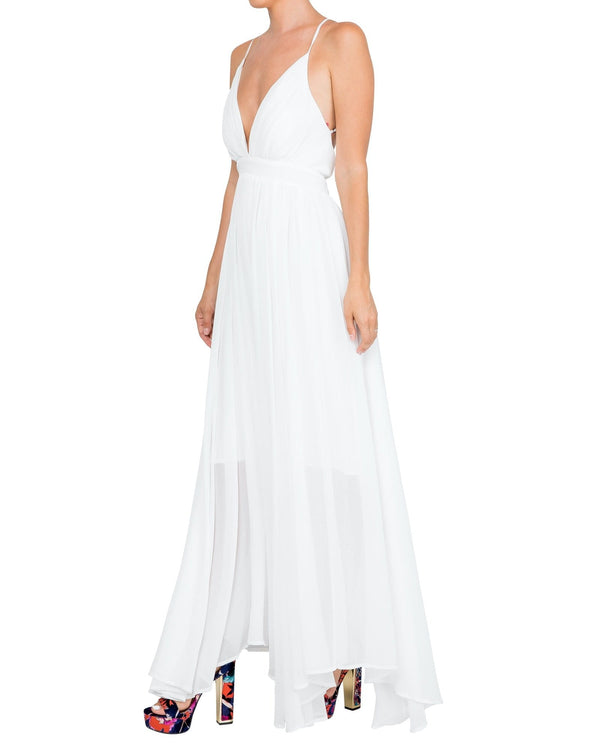 Enchanted Garden Maxi Dress - White