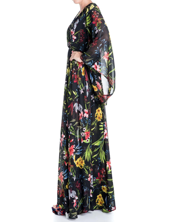 Sunset Maxi Dress - Black Coral