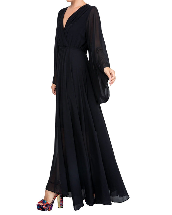Sunset Maxi Dress - Black - Meghan Fabulous