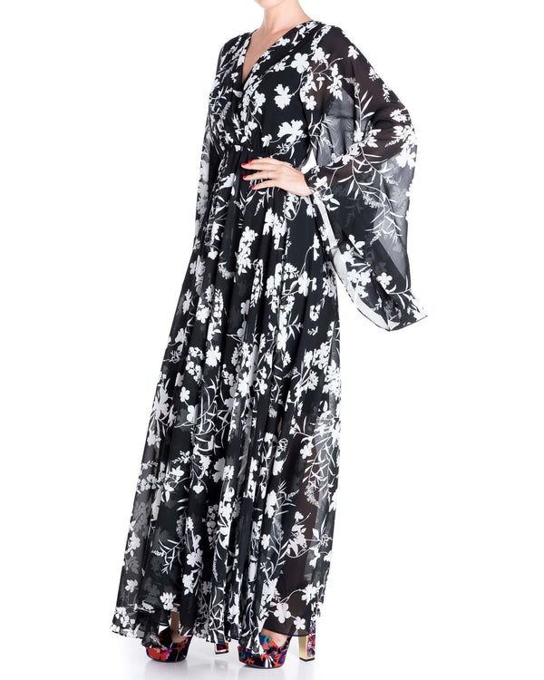 Sunset Maxi Dress -Dahlia Black