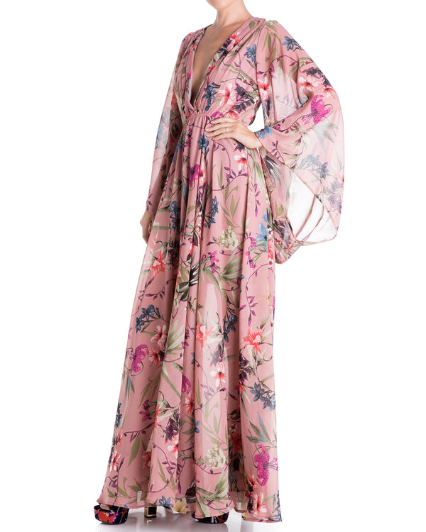 Sunset Maxi Dress - Mauve Hibiscus