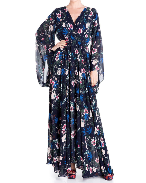Sunset Maxi Dress - Wildflower Navy