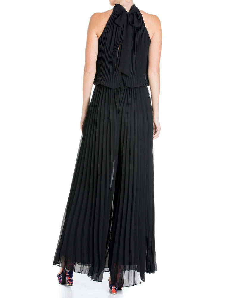 Wild Orchid Pleat Jumpsuit - Black