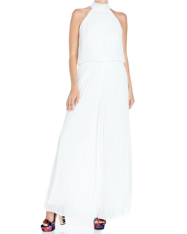 Wild Orchid Pleat Jumpsuit - White - Meghan Fabulous