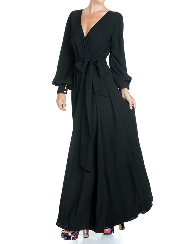 LilyPad Maxi Dress - Black 1