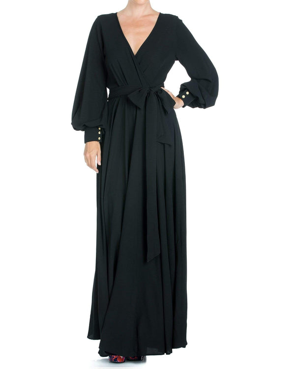 LilyPad Maxi Dress - Black - Meghan Fabulous