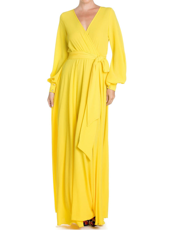 Lilypad Maxi Dress - Canary - Meghan Fabulous