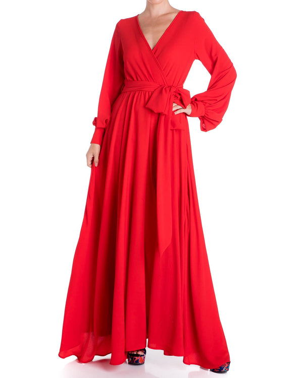 LilyPad Maxi Dress - Cherry
