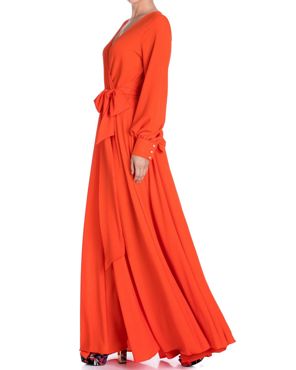 LilyPad Maxi Dress - Flame