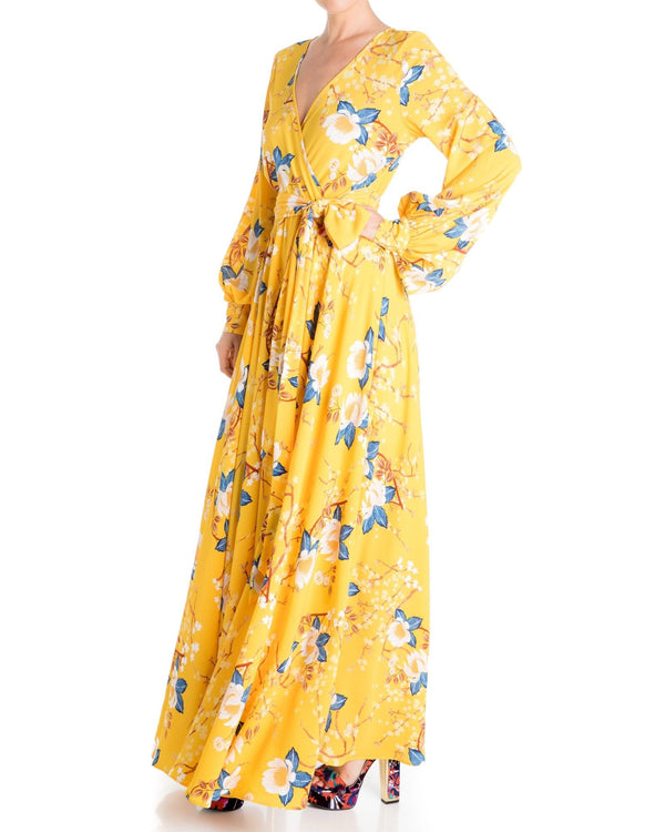 LilyPad Maxi Dress - Gold Lotus