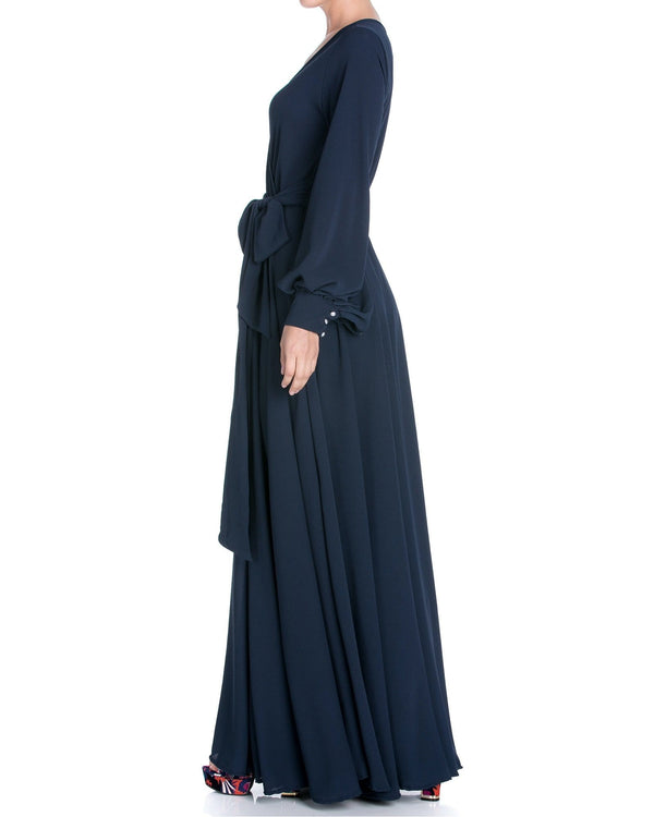 LilyPad Maxi Dress - Navy - Meghan Fabulous