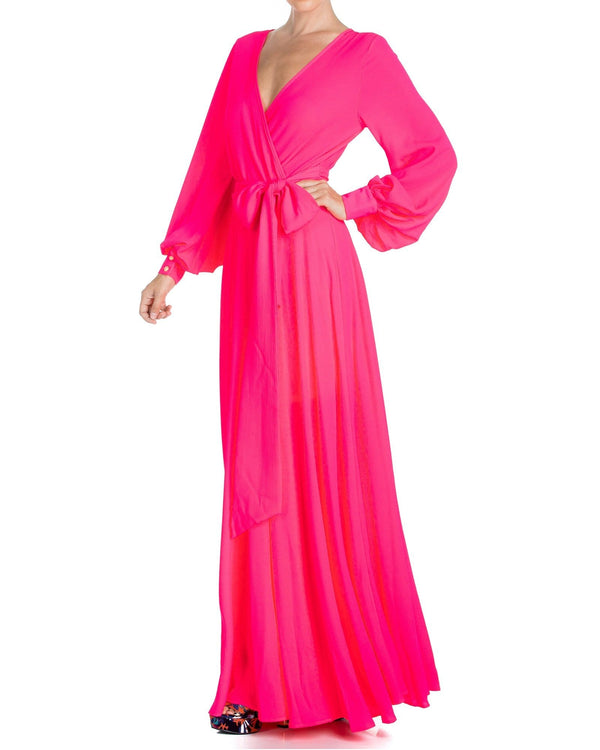 LilyPad Maxi Dress - Neon Pink