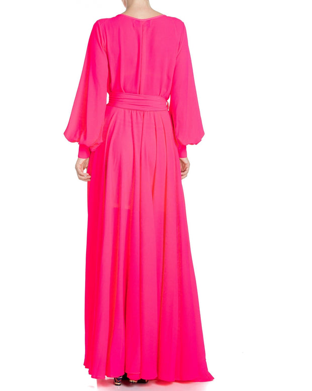 LilyPad Maxi Dress - Neon Pink 1