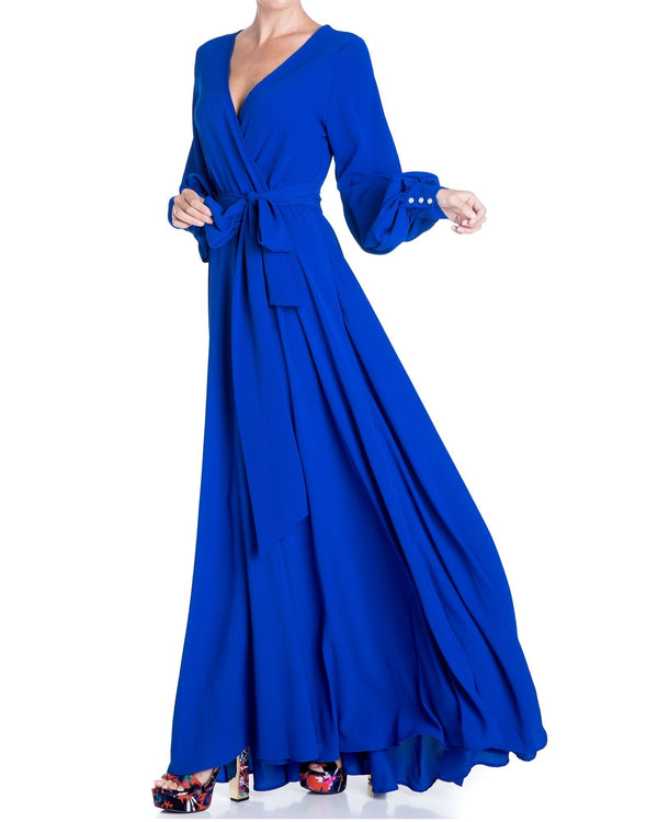 Lilypad Maxi Dress - Royal