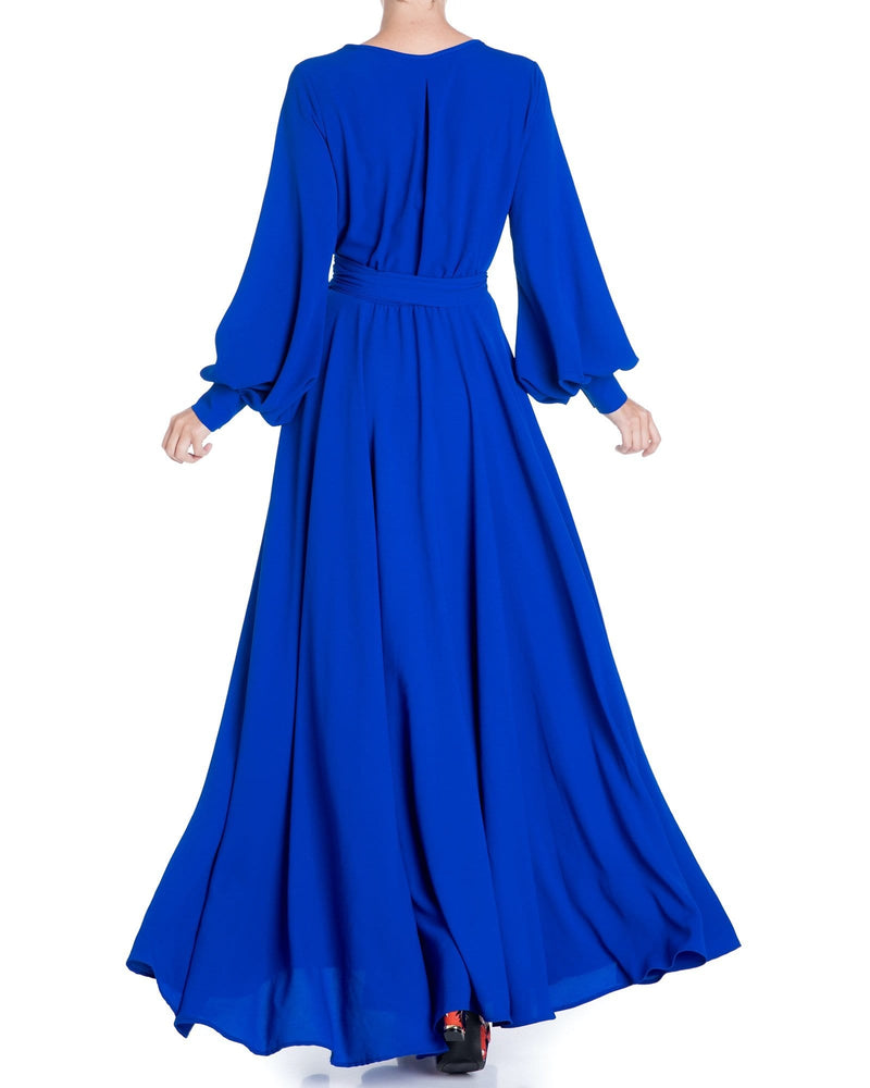 Lilypad Maxi Dress - Royal - Meghan Fabulous