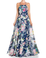 Midnight Maxi Dress - Navy Floral - Meghan Fabulous