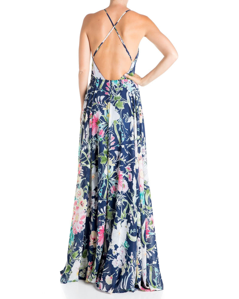 Midnight Maxi Dress- Navy Floral