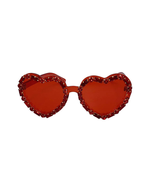 I Heart U Sunglasses - Red - Meghan Fabulous